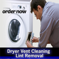 man performing a dryer vent cleaning service